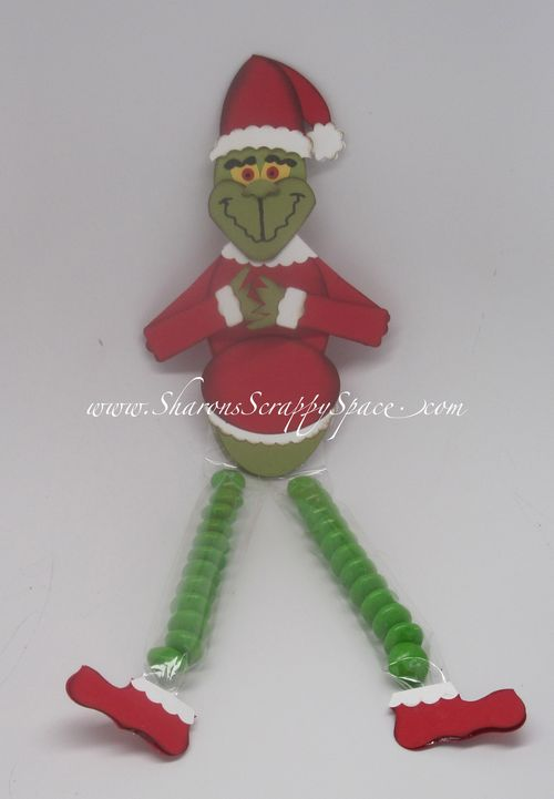 Punch Art Cards and Projects: Grinch Candy Legs